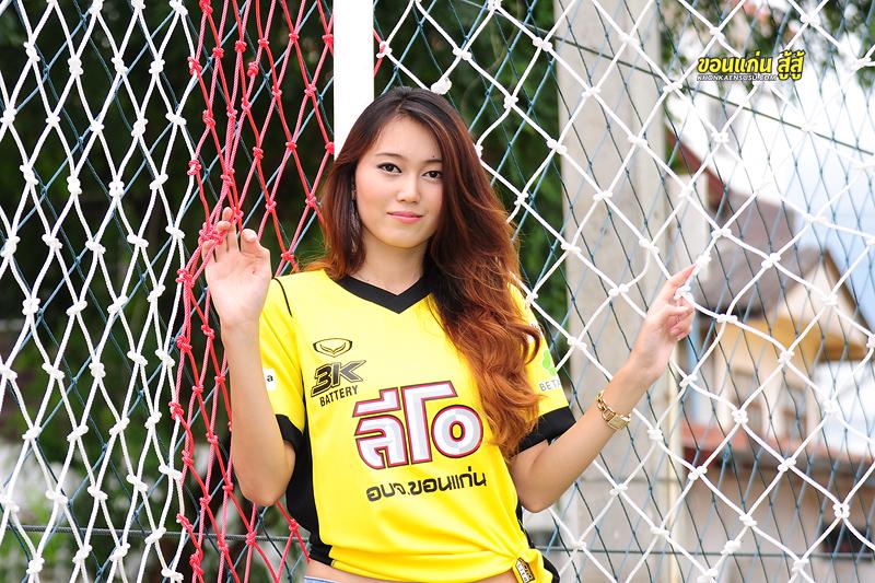 """ถ่ายภาพ """"น้องไอซ์""""  แฟนบอลสาวในเสื้อเหย้า เยือน The T-Rex ขอนแก่น เอฟซี กับ Khon Kaen Links PHOTO CLUB"""