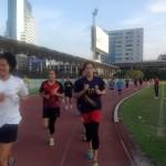 เก็บตกภาพบรรยากาศการวิ่งออกกำลังกาย และเล่นเวท ของสาวๆ นักตบไอเดีย-ขอนแก่น