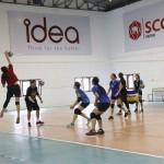 ภาพการฝึกซ้อม ทีมวอลเล่ย์บอล ไอเดีย-ขอนแก่น ในช่วงการเตรียมทีมสู้ศึกไทยลีก