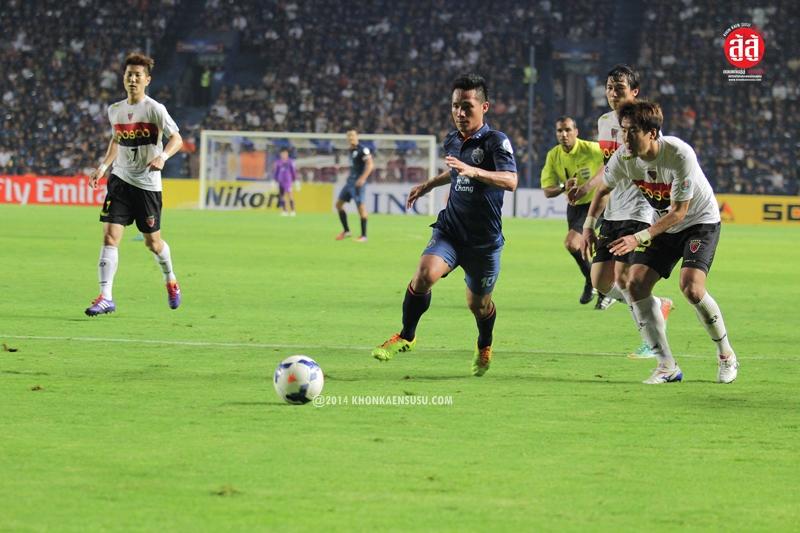 ACL เอเอฟซี แชมเปียนส์ลีก 2014 นัดที่ 2 บุรีรัมย์ ยูไนเต็ด (Buriram United Thailand) 1-2 โปฮัง สตีลเลอส์ (South Korea Pohang Steelers)