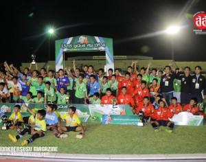 ปิดฉากอย่างยิ่งใหญ่ ฟุตบอลเยาวชน ช.ทวี จูเนียร์ คัพ ครั้งที่ 4 ประจำปี 2557