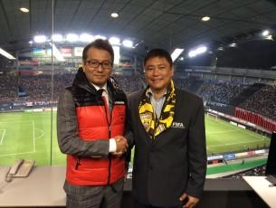 ดร.กษม ชนะวงศ์ ณ สนามซัปโปโรโดม ฮอกไกโด นัดปิดฤดูกาลของ Sapporo Consadole 2014