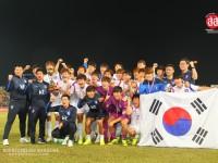 """ประมวลภาพ ทีมชาติไทยเสมอเกาหลีใต้ 0 ประตูต่อ 0 """"โสมขาวคว้าแชมป์ฟุตบอลคิงส์คัพ ครั้งที่ 43"""""""