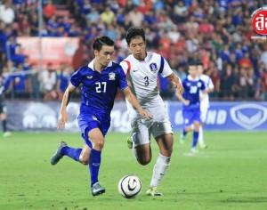 """""""ร่ำไห้ก่อนยิ้มทั้งน้ำตา ไทยพ่ายเกาหลีท้ายเกมส์"""" ไทย 1-2 เกาหลีใต้ ฟุตบอลเอเอฟซี ยู 19 รอบคัดเลือก"""