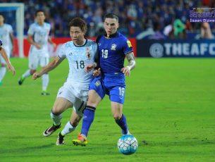 ไทยแลนด์เต็มที่แล้ว พ่ายญี่ปุ่น 0-2 ฟุตบอลโลกรอบคัดเลือก โซนเอเชีย