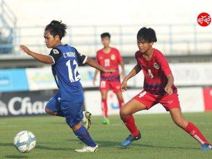 บีอายู บุรีราษฎร์ เอฟซี ถล่ม ลำปาง แกรนด์ สปอร์ต 5-0 ฟุตบอลลีกหญิง เมืองไทย วีเมนส์ ลีก 2017