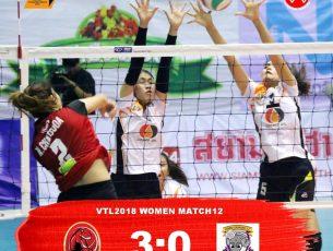 #VTL2018 #Women #นัดที่ 12 ขอนแก่น สตาร์ วีซี ชนะ คอสโม เชียงราย วีซี 3 ต่อ 0 เซต (25-9, 25-20, 25-4)