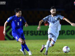 ลุ้นต่อนัดสุดท้าย ศุภชัยซัดให้ไทยนำก่อนเจ๊า ฟิลิปปินส์ 1-1 ชิงแชมป์อาเซียน แบ่งกลุ่มนัด 3