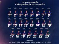 หมายเลขเสื้อพร้อม!! ช้างศึก ประกาศหมายเลขเสื้อ 23 แข้งลุยศึกเอเชียน คัพ 2019