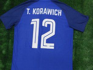 Review รีวิว เสื้อฟุตบอล ทีมชาติไทย แมทช์วอร์น เหย้า น้ำเงิน เวอร์ชั่นเพลเยอร์นักเตะ Thailand Match Worn Jersey 2018