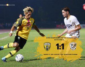 Match Review : Thai League 2 Match 6 เดอะทีเร็กซ์ตามตีเจ๊าเทพอินทรี ขอนแก่น เอฟซี 1-1 อุบล ยูไนเต็ด